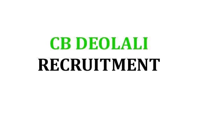 CB Deolali Recruitment