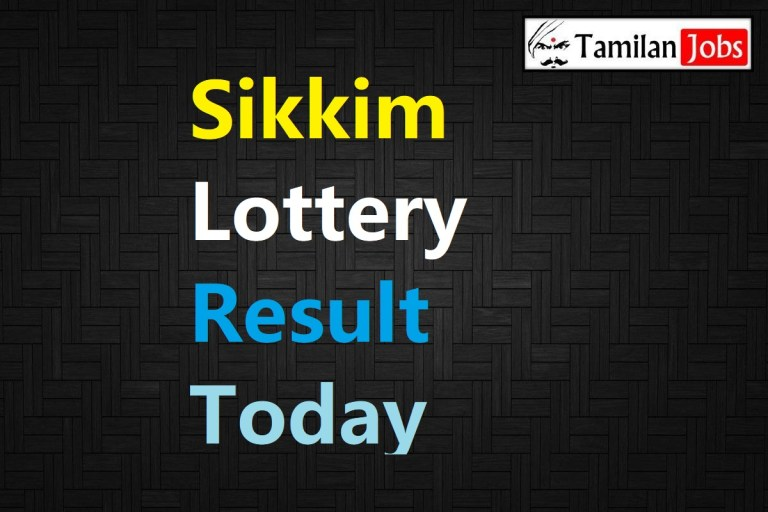 Sikkim State Lottery Result Live Today 26.2.2021, 11:55 AM, Morning