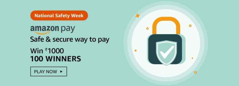 Amazon National Safety Week Quiz Answers: Does Amazon Pay ever call you on the phone to ask for OTP?