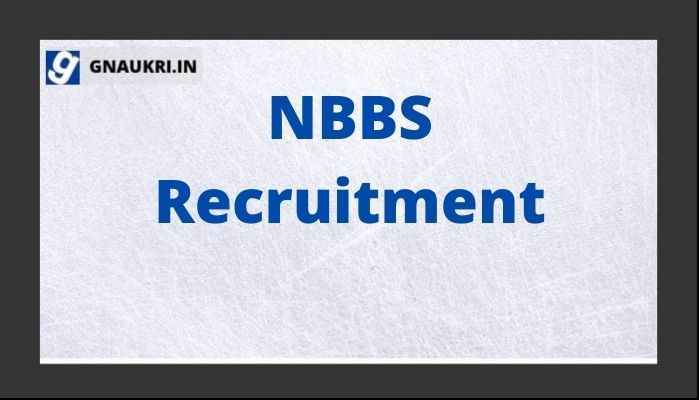 NBBS Recruitment 2021